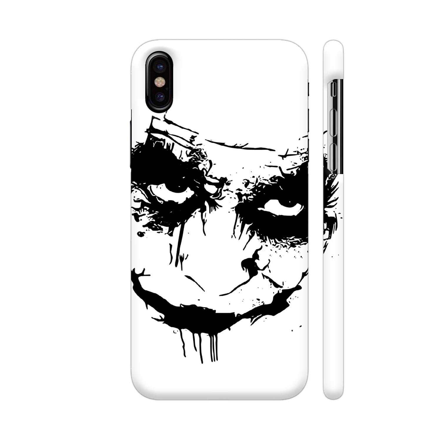 Colorpur joker face on white printed back case cover amazon in electronics