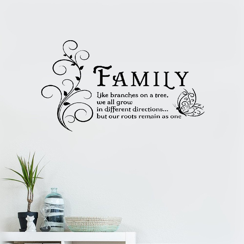 FAMILY BRANCHES ON A TREE Wall Art Sticker Lounge Quote Decal Mural Transfer