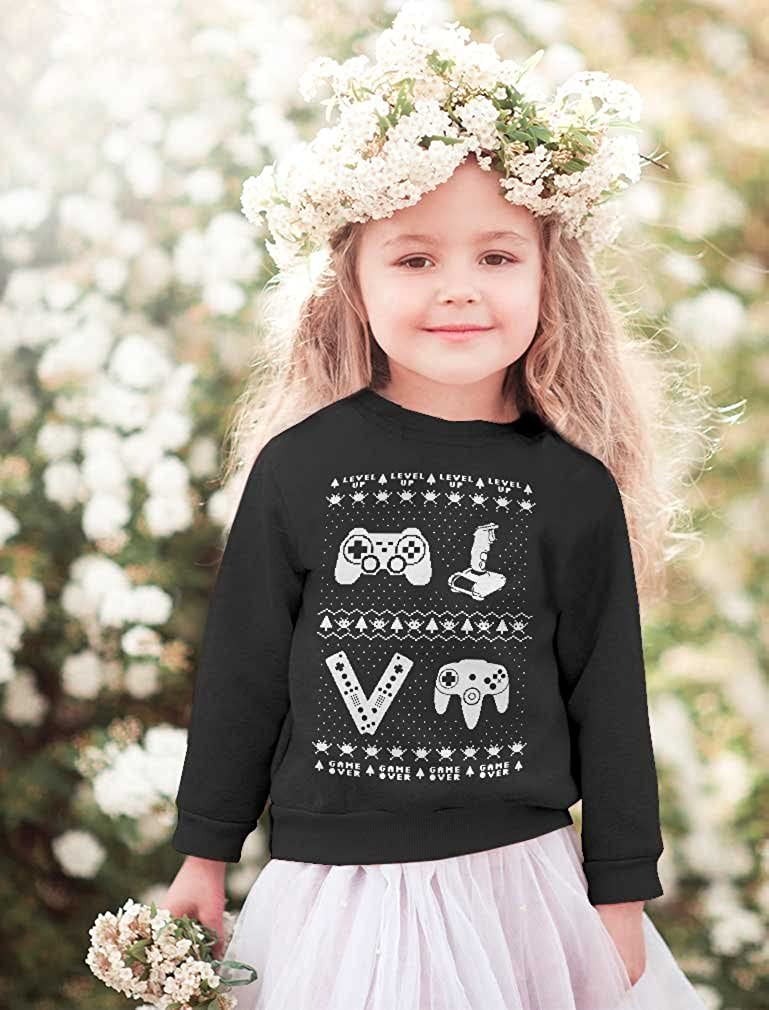 Gamer Ugly Christmas Sweater Holiday Xmas Toddler//Kids Sweatshirt TeeStars