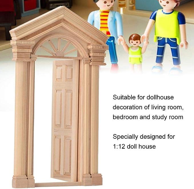 Supvox 1:12 Puppenhaus Miniatur Holz Bildschirm Holz Puppenhaus Ornament Puppenhaus DIY Dekoration Zubeh/ör