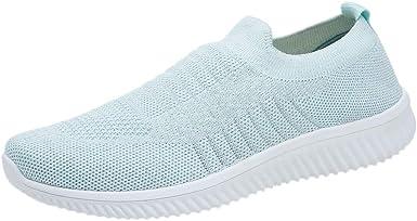 Zapatos para Mujer, ZARLLE Zapatillas de Deporte Tejido de Mujer ...