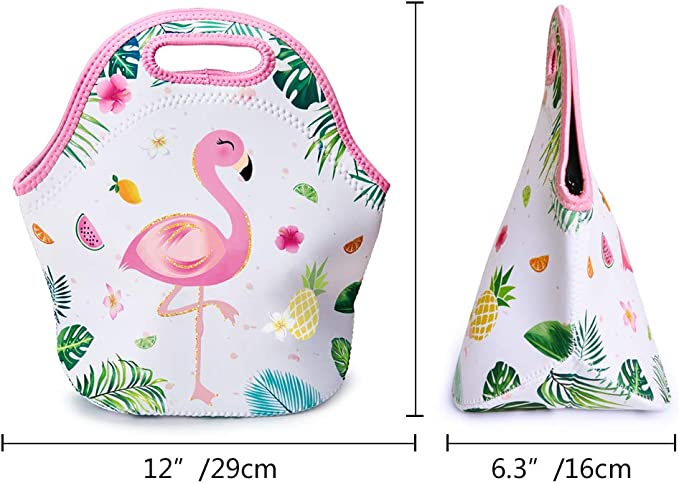 Yunshm Flamingo Couple In Summer Tropical Love Vector Image Personalized Trolley Handbag Waterproof Unisex Large Capacity For Business Travel Storage