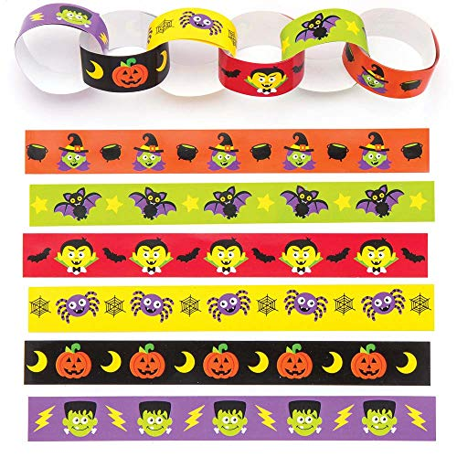 Baker Ross Halloween Paper Chains (Pack of 240) for Kids Halloween Crafts and Decorations -