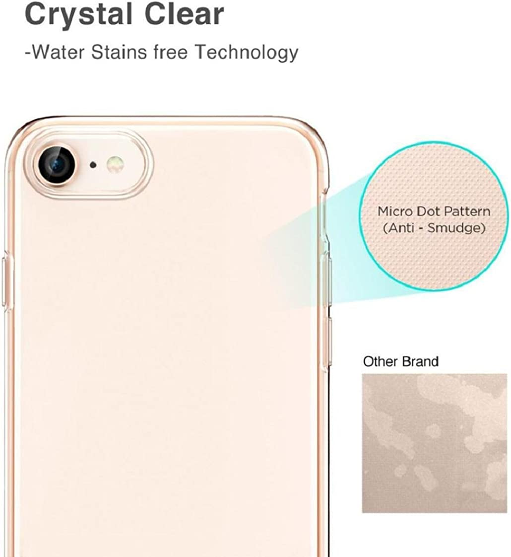 MChoice Ultrathin Plating Clear Slim Soft Silicone TPU Rubber Case Cover For iPhone 8