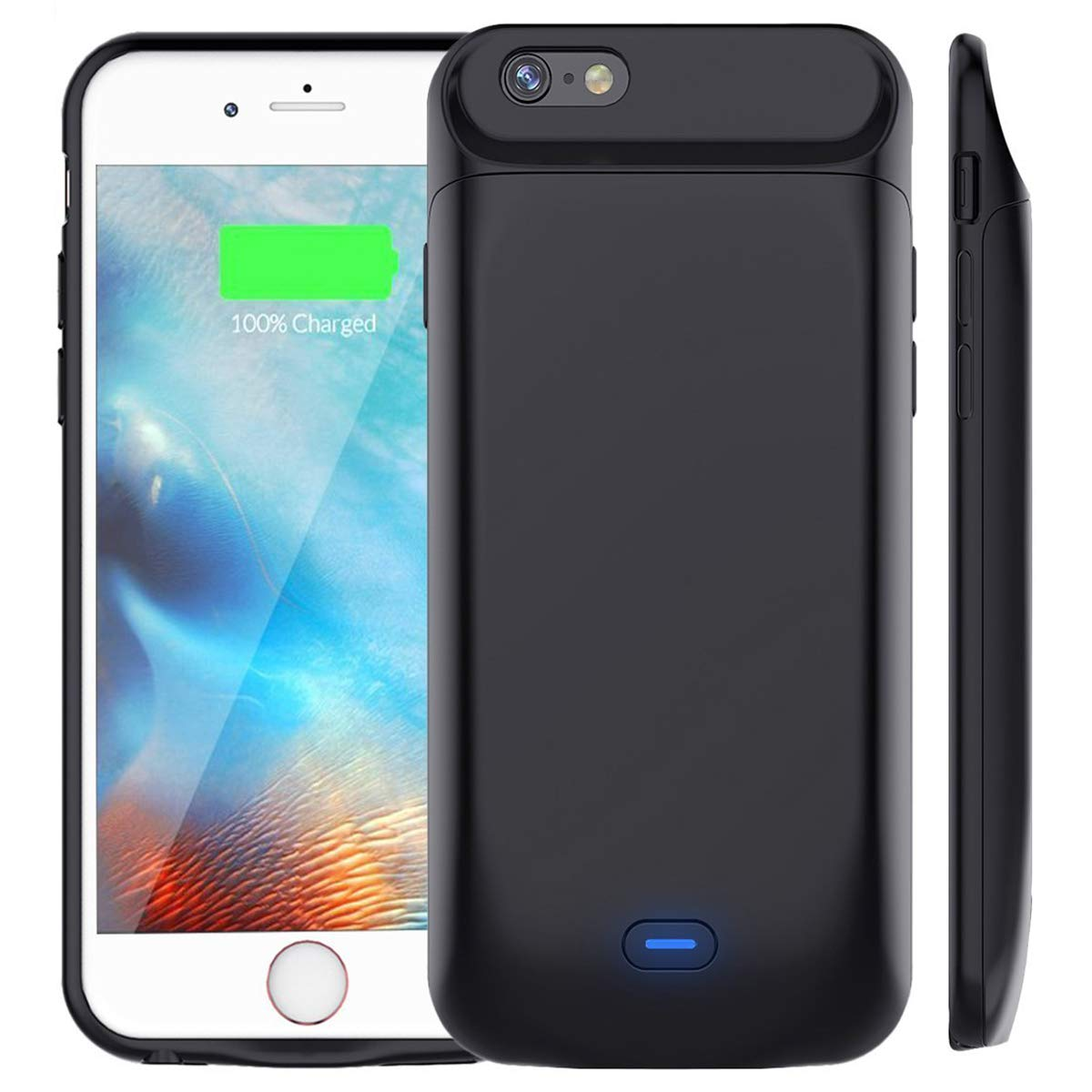 5000mAh Battery Case for iPhone 6S/6, Vproof Rechargeable External Battery Portable Power Charger Protective Charging Case for Apple iPhone 6,6S (4.7 Inch) (Black) iPhone 6 battery case-FBA