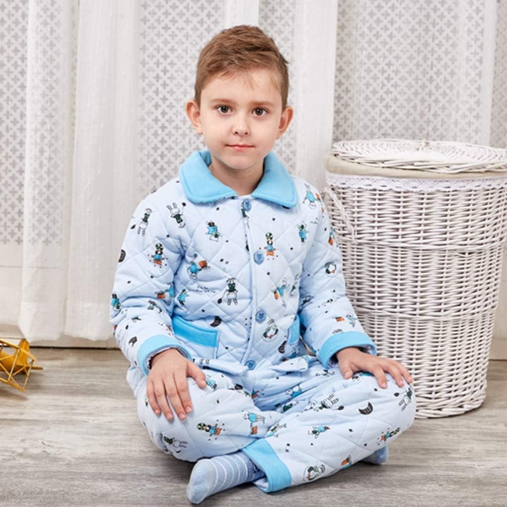 Pijamas Ropa de Invierno Acolchada de Tres Capas para niños ...
