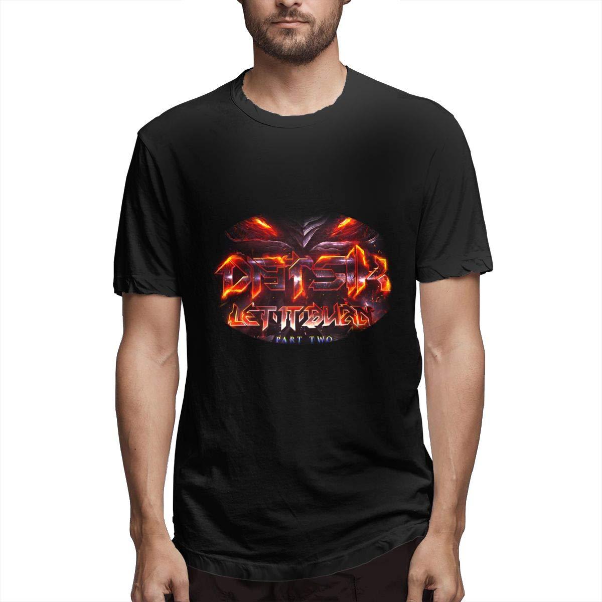 Lihehen Datsik Let It Burn Retro Printing Round Neck T Shirt