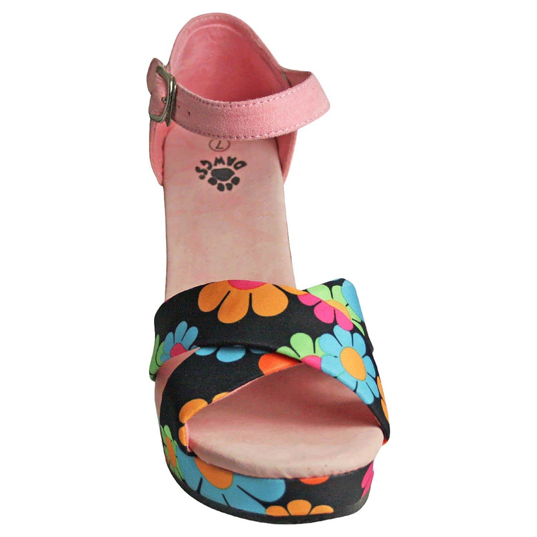 DAWGS Women's Kaymann 4-inch Sandal Wedges Magic Bus Size 6 B00O1WCX5S Parent
