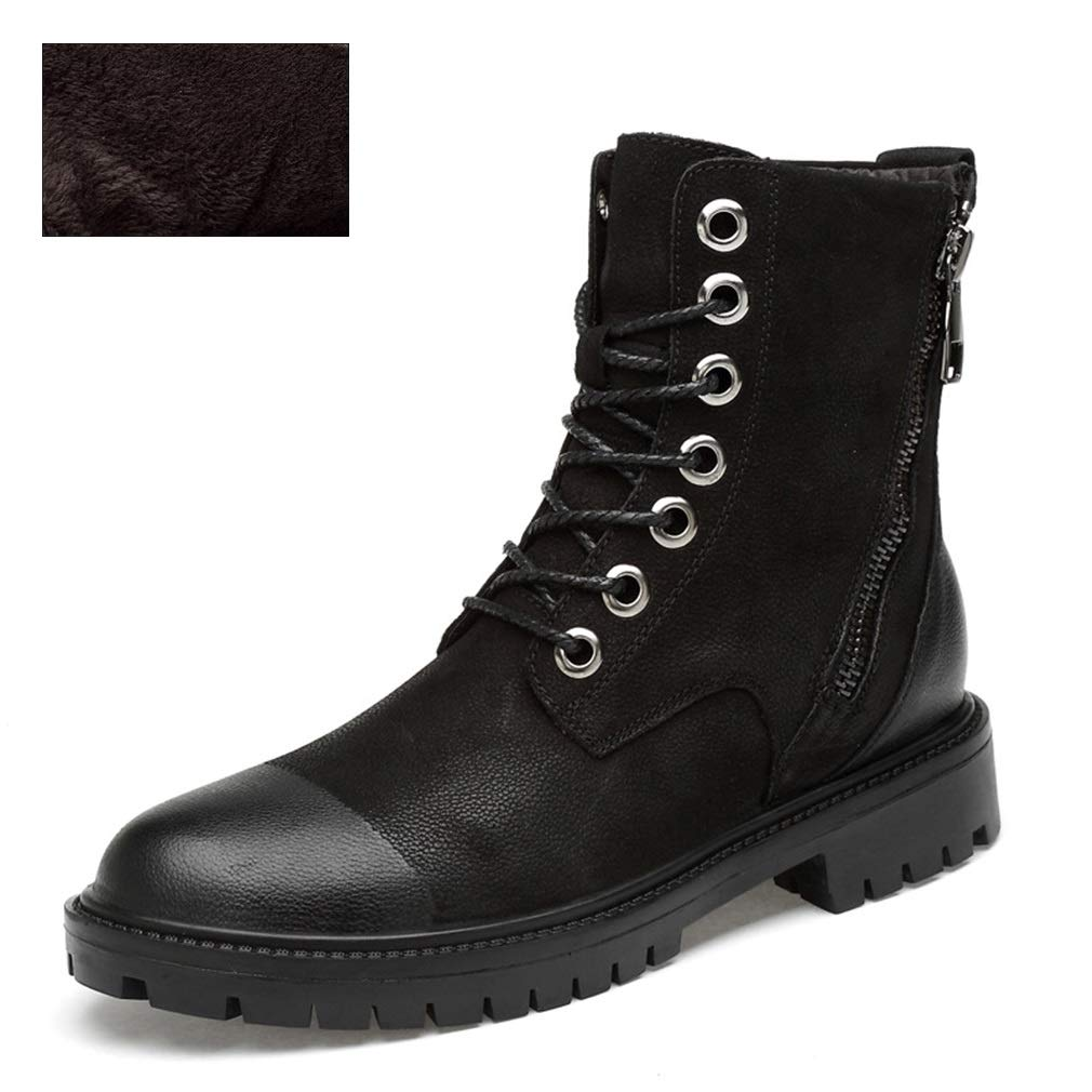 YAN Herren Stiefel Leder Martin Stiefel Werkzeug Stiefel Stiefel Stiefel High-Top-Stiefel Fashion Lace Up Wanderschuhe Outdoor Wanderschuhe (Farbe   B, Größe   48) efbec4