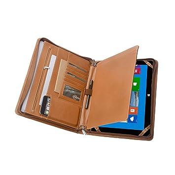 Amazon com : Leather Zippered Padfolio Case for Microsoft