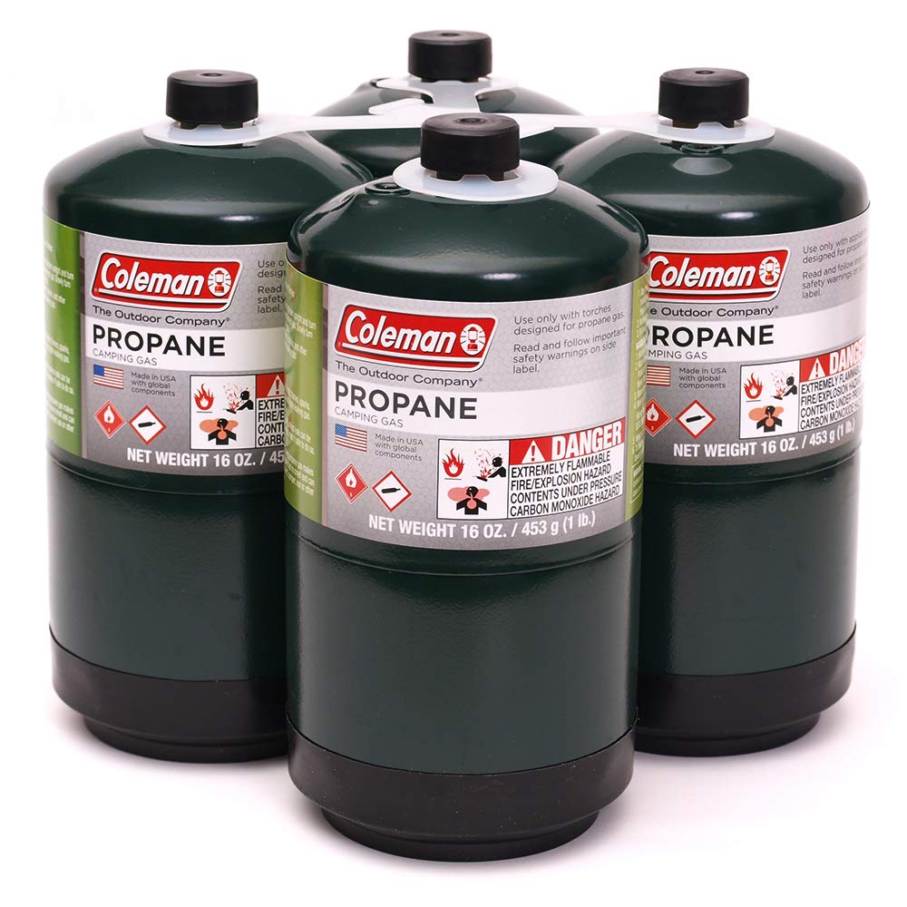 Coleman Propane Fuel, 16 oz, Propane Camping Cylinde 4-Pack by C-M Propane Fuel