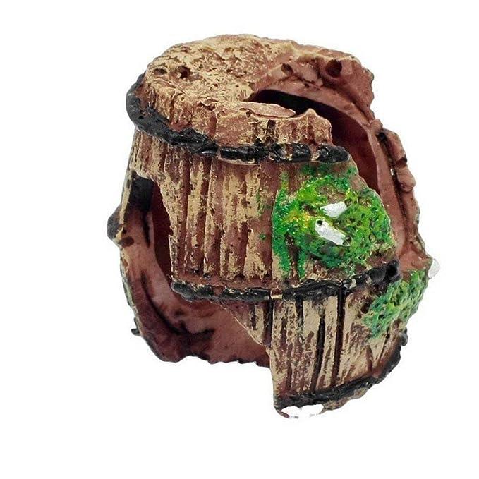 Hemore Resina Rota Barril Acuario Decoraciones para pecera, Acuario Adorno Cuevas acuáticas Ocultar Hut Mascotas Suministros: Amazon.es: Productos para ...
