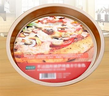 KUKI El Plato de Pizza Dorado con Bandeja para Hornear de 8 ...