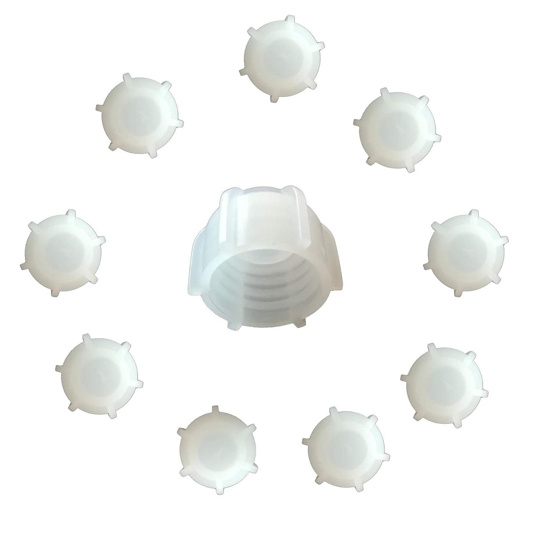 Kartuschenverschlusskappe 10 ST/ÜCK Verschlusskappe f/ür Kartuschen Kartuschenverschluss mit Grobgewinde Schraubkappe Silikon Kartusche wiederverwenden und sicher verschlie/ßen Kartusche zumachen