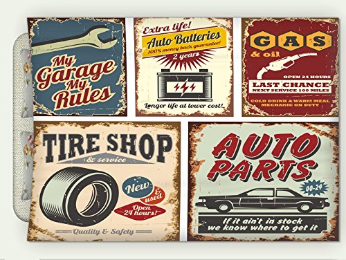 Custom Flannel Throw Blanket 1950S Decor Collection Vintage Car Metal Signs Automobile Advertising Repair Vehicle Garage Classics Serv Autumn Winter Warm HD Digitals Print Blanketry, 71