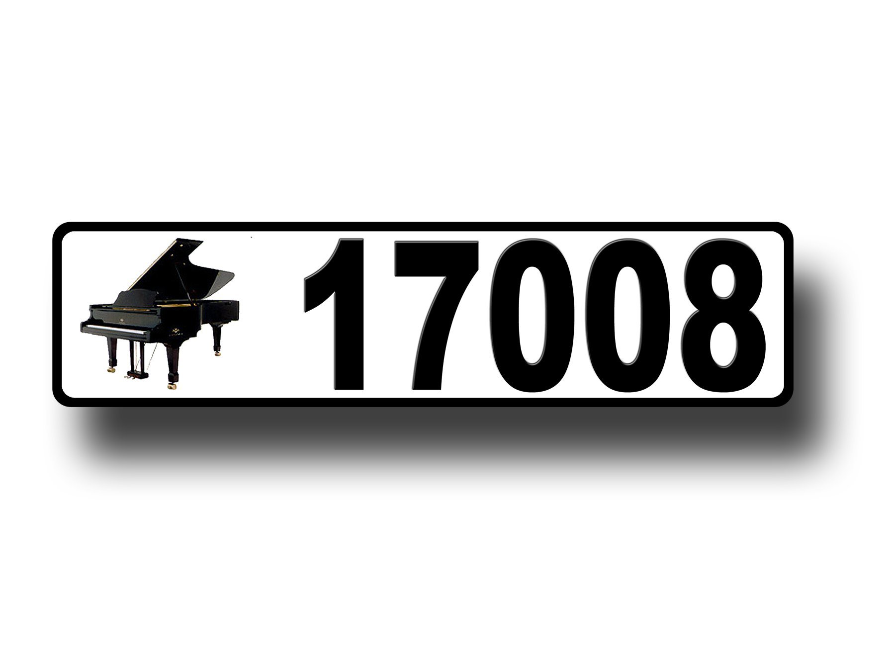 Piano, Curb, Mailbox, House Address Plaque, Reflective by West Coast Curb-N-Sign