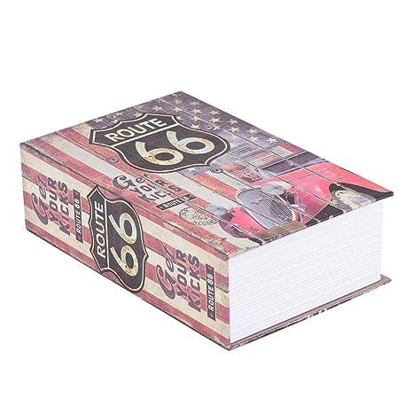 ROSE Passwortsperre versteckte Geldkassette tragbare Safe f/ür Geld Buch und Pass Secret Book Safe Schmuck