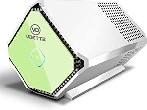 IVLWE Portable 0.5LB Plasma Air Purifier,Sterilizer, Freshener, Cleaner, Bulit-in Battery Carried Anywhere for Car, Home, Office, Travel, No Filter Needed Changed (White)