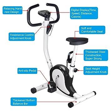 Popamazing Gym Fitness Master Exercise Bike Cardio Workout Adjustable ResistanceBlack