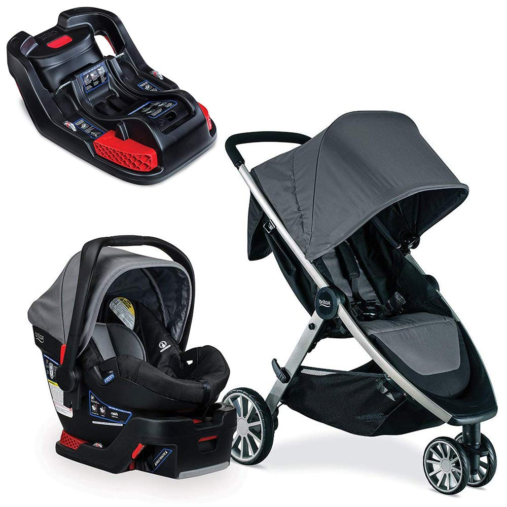 Britax B-Lively & B-Safe 35 Travel System, Dove with Extra Base Bundle by BRITAX