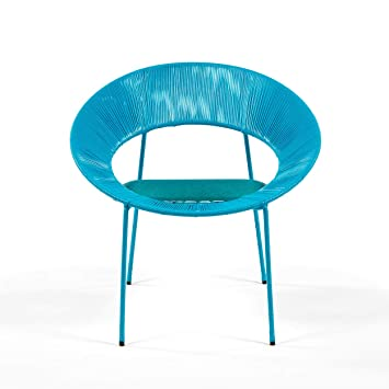 Delamaison Fauteuil Jardin SCOUBIDOU Turquoise Catalina Bleu: Amazon ...