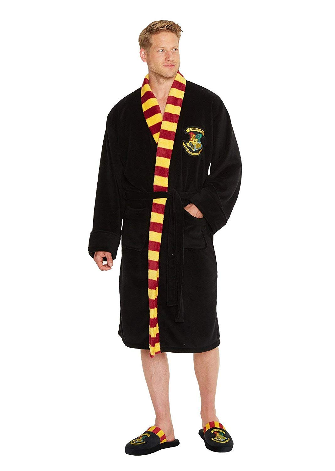Mens Or Womens Official Harry Potter Hogwarts Bathrobe - Mens Hogwarts  Bathrobe - One Size product 186beec19