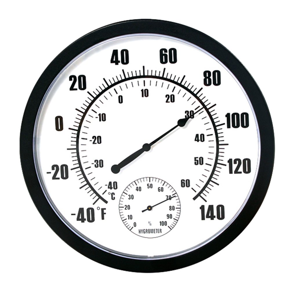 szdealhola 10-inch Plastic Case Wall Thermometer Hygrometer Thermo-hygrometer Hygro-thermometer