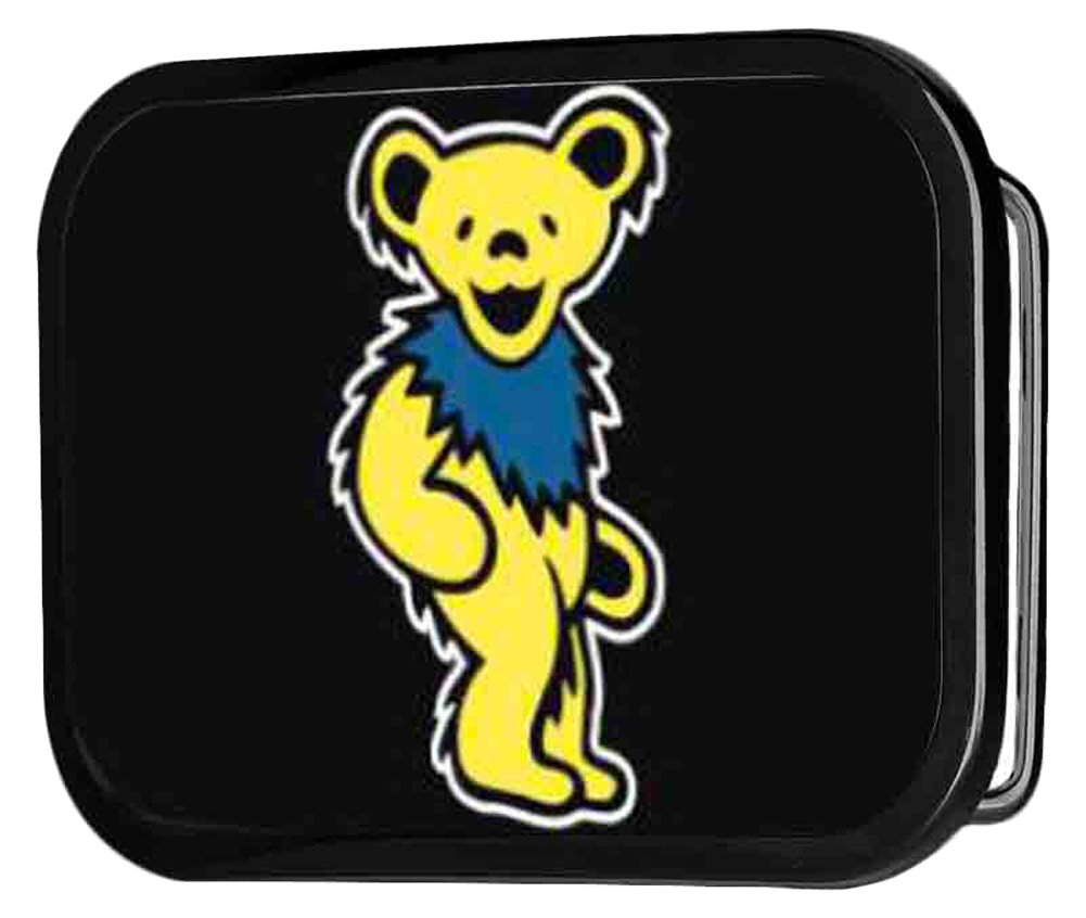 Grateful Dead Psychedelic Rock Band Yellow Dancing Bear Rockstar Belt Buckle Buckle Down