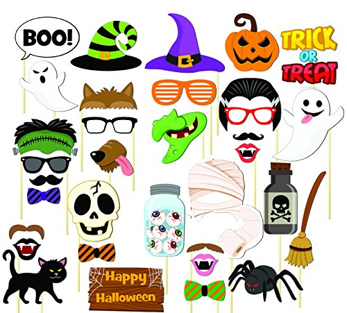 Halloween Photo Booth Props Decorations, Holiday Day Props