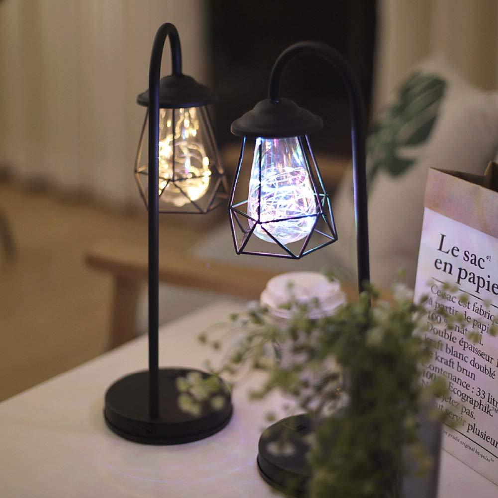 Led luz de noche retro decoración del hogar lámpara de mesa usb ...