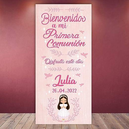 setecientosgramos Decoración Comunión | Cartel Comunión Pink | 70cm x 150cm