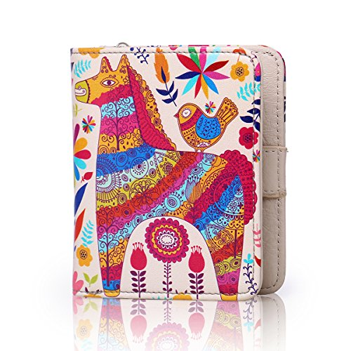 APHISON Ladies Leather Purse, Designer Cute Compact Purse Credit Card Small Wallet with Coin Compartment /Gift for Girl(Gift Box) (0004) by APHISON