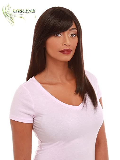 Amazon.com : Long Wig With Bang For Black Woman 100% Heat Resistant Straight Hair SUMA peluca larga ... (4) : Beauty