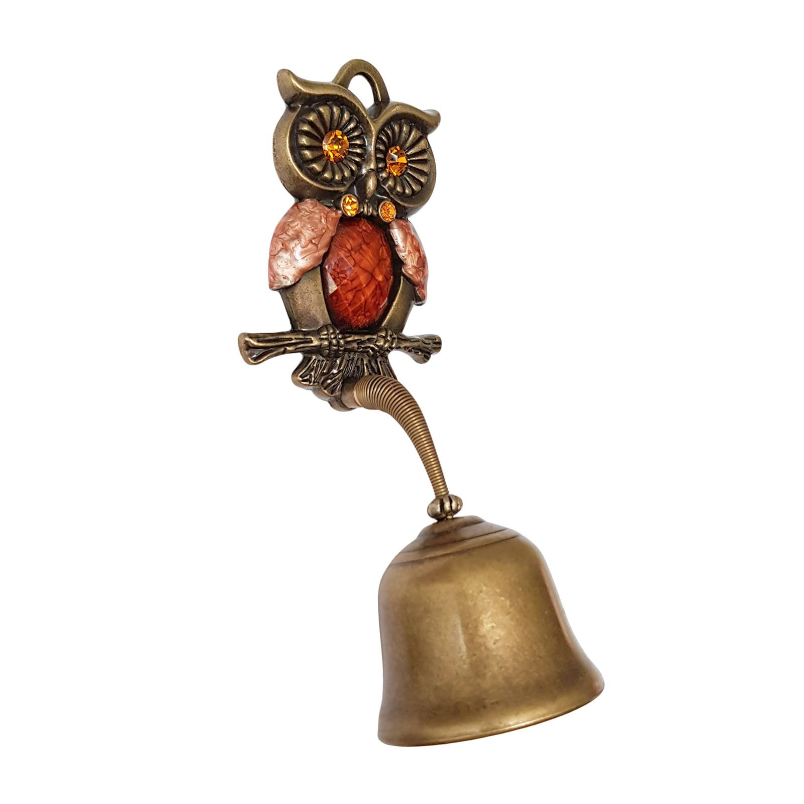 Owl Springy Shopkeepers Bell Entrance Alert Chime Compact & Lightweight Unique Design Home Decoration Doorbell A-Type (Orange) by YG-1 (Image #2)