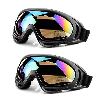 c7c7dc33fd9 MOYA Life Gafas de Esquí Prueba de Polvo Protección de la Nieve Protección  UV Ajustable Hombre