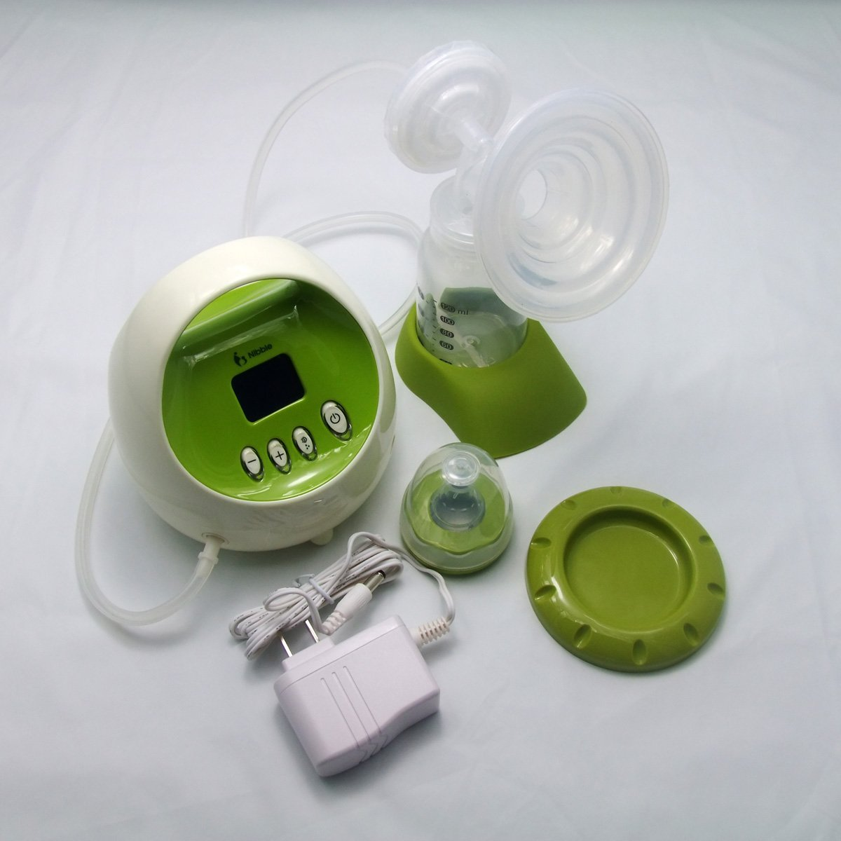 Gland Nibble Single Electric Breast Pump Breastfeeding Pump for Nursing Moms BPA Free, Green, with LCD Display and Compact Design