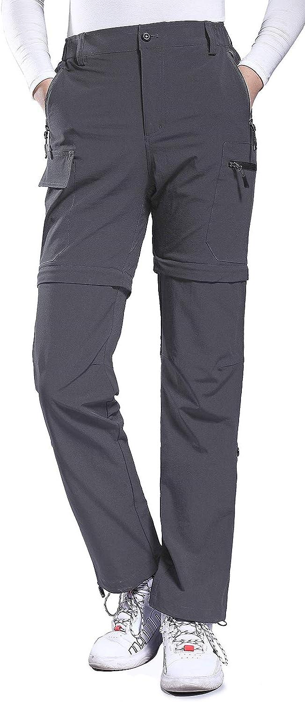 Hiauspor Womens Convertible Hiking Pants Lightweight Zip-Off Pants