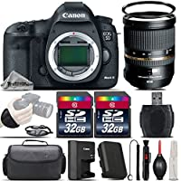 Canon EOS 5D Mark III DSLR Full Frame 22.3MP Camera + Tamron 24-70mm 2.8 VC Lens + 64GB Storage + Wrist Grip Strap + Case + UV Filter + Card Reader + Air Cleaner - International Version
