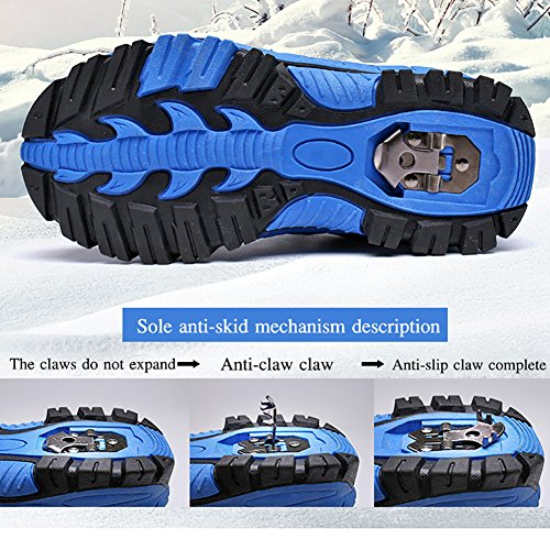 Anti Boots Winter Shoes Boots slip Red Waterfroof Platform Snow Walking Hiking Shoes Cotton Kids Climbing U45xqtYwII