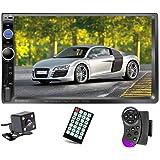 "Podofo Double Din Car Stereo Audio Radio, 7"" Touchscreen Digital LCD Monitor, Bluetooth Handsfree, Mirror Link, MP3/USB/SD/FM"