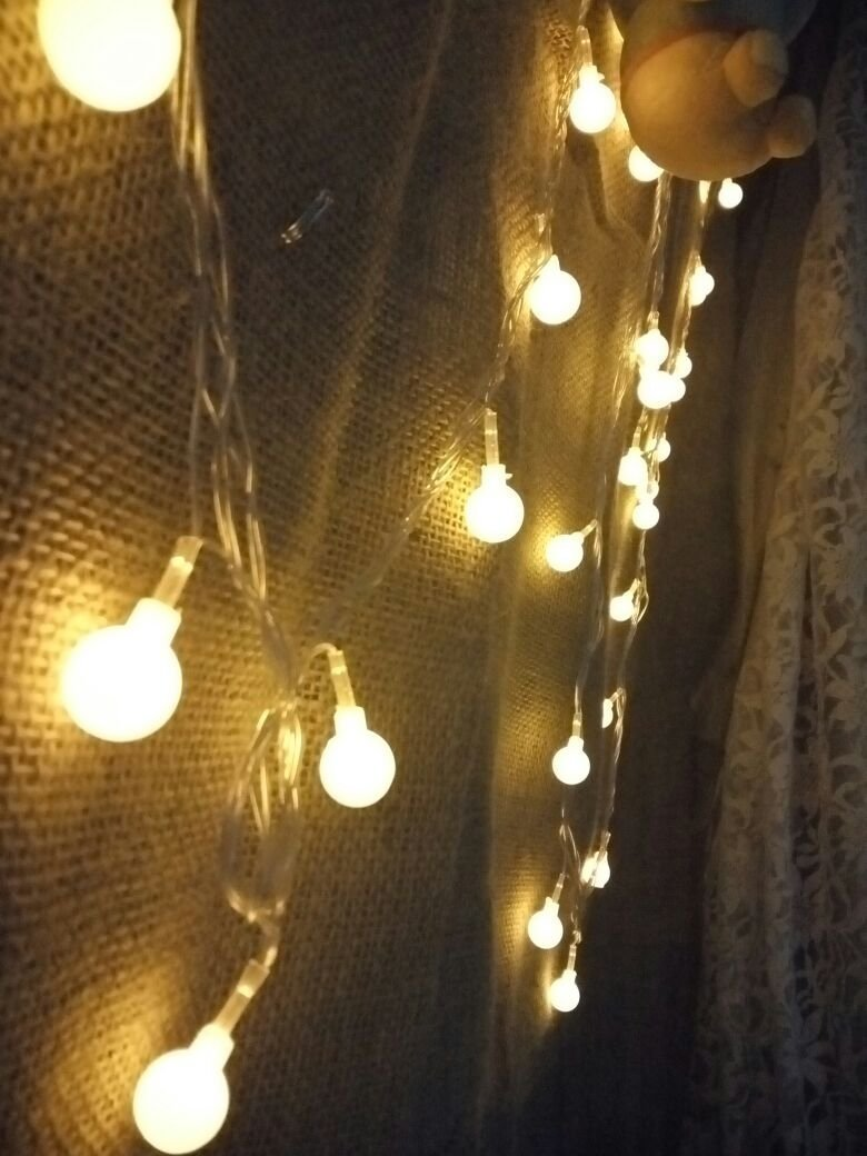Naisidier 100LED 33 Feet Ball Globe Long String Lights Warm Color Fairy Starry Light for Xmas  Party Home Garden (Warm White)