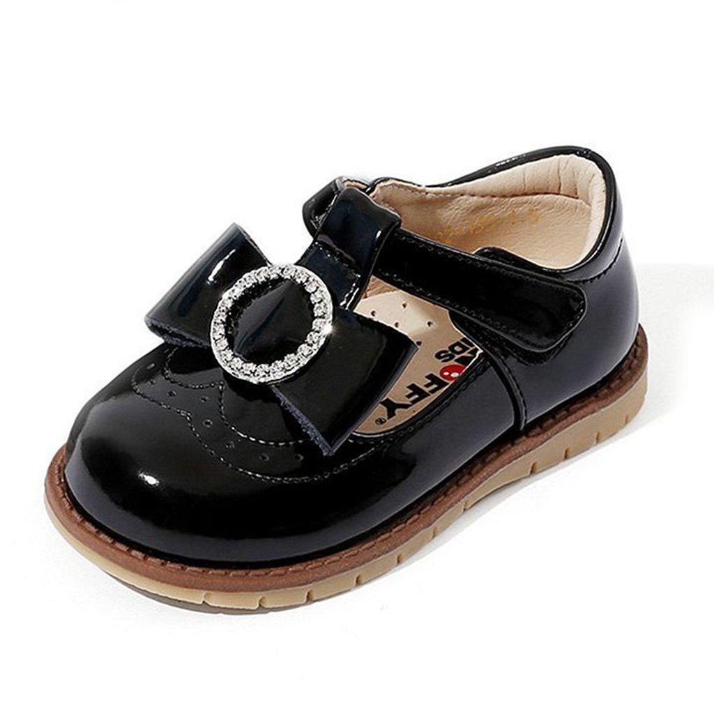 GIY Girl Mary Jane Dress Ballet Casual Bowtie Slip On Ballerina Flat Shoes (Toddler/Little Kid)