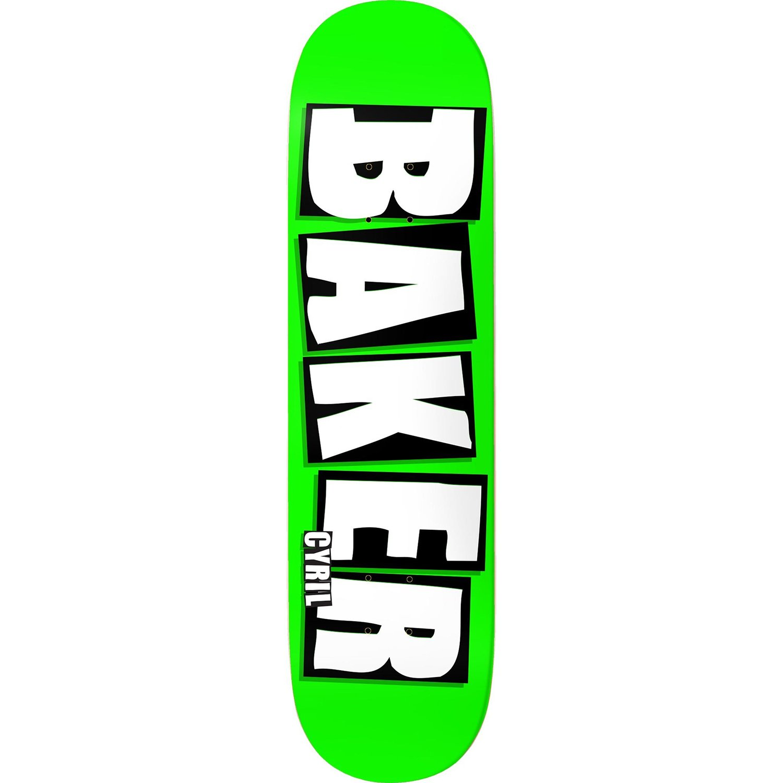 品質保証 ベイカースケートボードデッキジャクソンブランド名ネオングリーン8.25