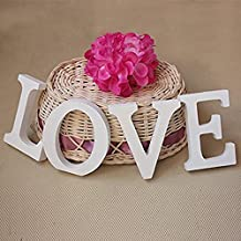 Tinksky LOVE Wooden Letters Wedding Favors Wedding Present Gifts for Men (White)