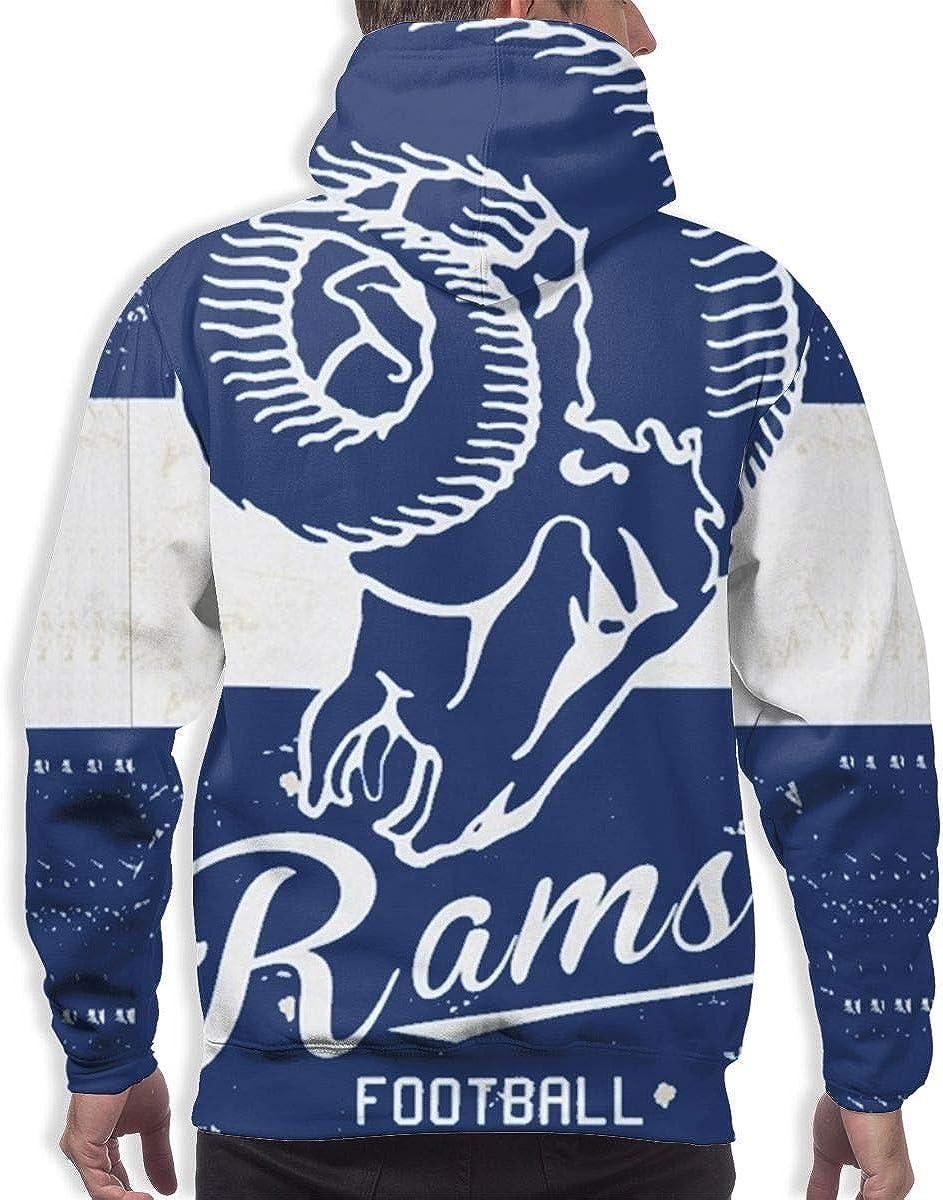 Qinxiaojun Los Angeles Mens Classic Rams 3D All Print Hoodie