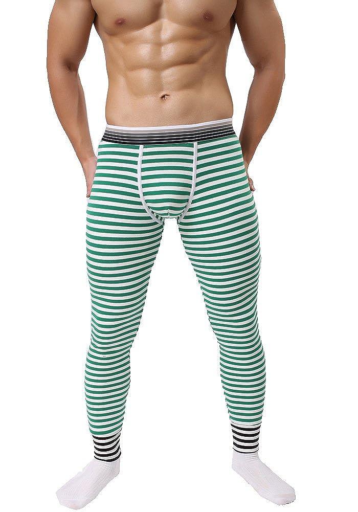 AOQIANG Mens Thermal Long John Cotton Pants for Winter