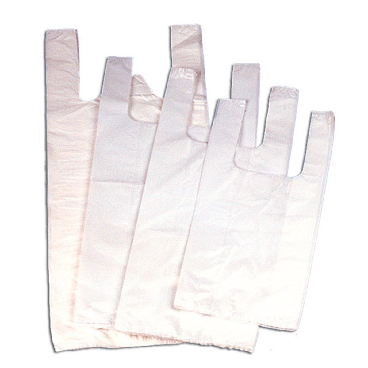 García de Pou 535.14 Bolsas Camiseta OXO-Biodegradables 8 Micras 38/26 x 45 Cm, Set de 200, Blanco