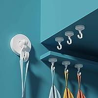 Anupow 4 Pack zelfklevende haken, handdoekhaken houder voor opknoping jas, hoed, kleding, handtas, zware douche…
