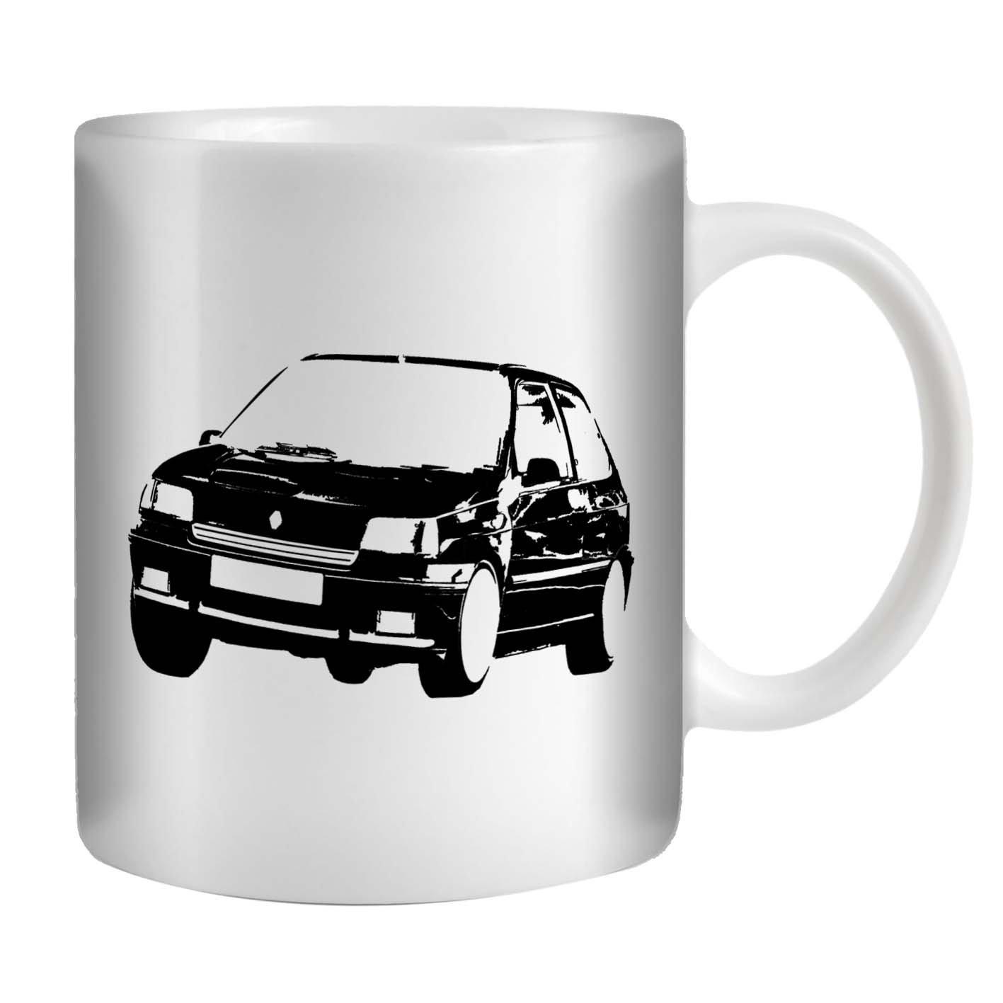 Stuff4 Taza de Café/Té 350ml/Negro/Renault Clio Williams/Cerámica ...