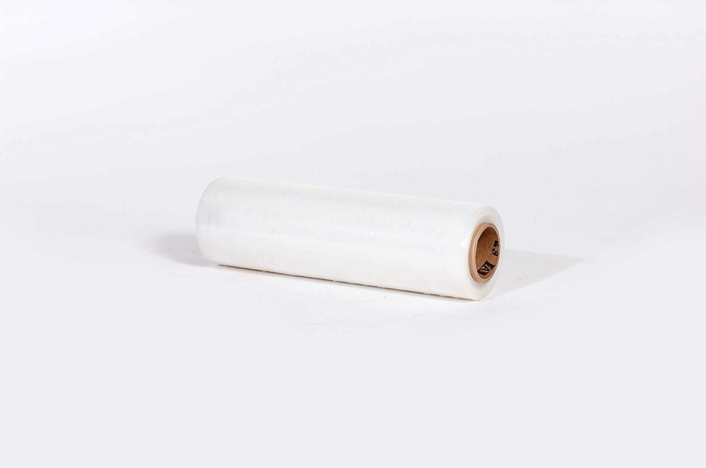 The Packaging Wholesalers 12-Inchx1, 500-Feet 80-Gauge Blown Hand Stretch Film, 4/Case (FSTSF128)